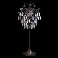 Aldo Bernardi Sauvignon Lampada Portabicchieri a LED da Terra per Interni