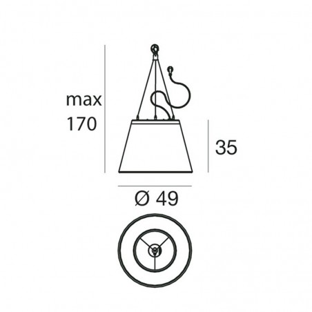 Linea Light 15327 Vulcanino Sospensione Lampada da Soffitto Esterno IP65
