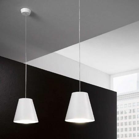 Linea Light 7254 Conus LED Sospensione Lampada da Soffitto Bianco