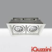 iGuzzini 2960.001 Deep Frame Minimal Bianco faro da incasso doppio 2x75W E27