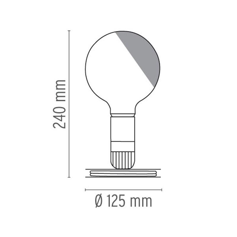 Indexbild 2 - Flos LED Leuchtmittel Tischleuchte Schwarz F3300000