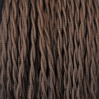 Cavo Elettrico 2X o 3X 50 metri Treccia in Tessuto Colore Marrone