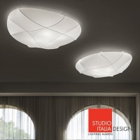 Millo Small LED Applique Wall or Ceiling Lamp Studio Italia Design