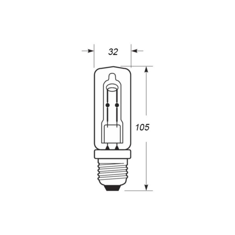 osram halolux ceram e27 230w 230v 3000k 4350 lm lamp