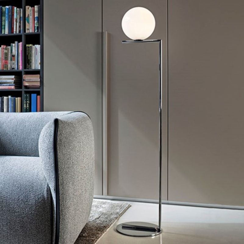 Flos ic f1 floor lamp chrome and blown glass f317305 diffusione flos ic f1 floor lamp chrome and blown glass f317305 aloadofball Gallery
