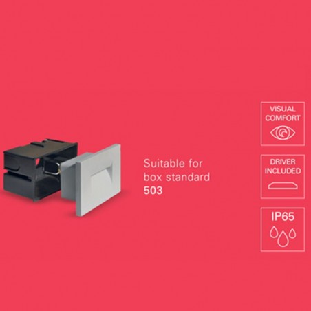 PAN INC59000 Fast LED 3W 45° 3000K 50lm Incasso Segnapasso