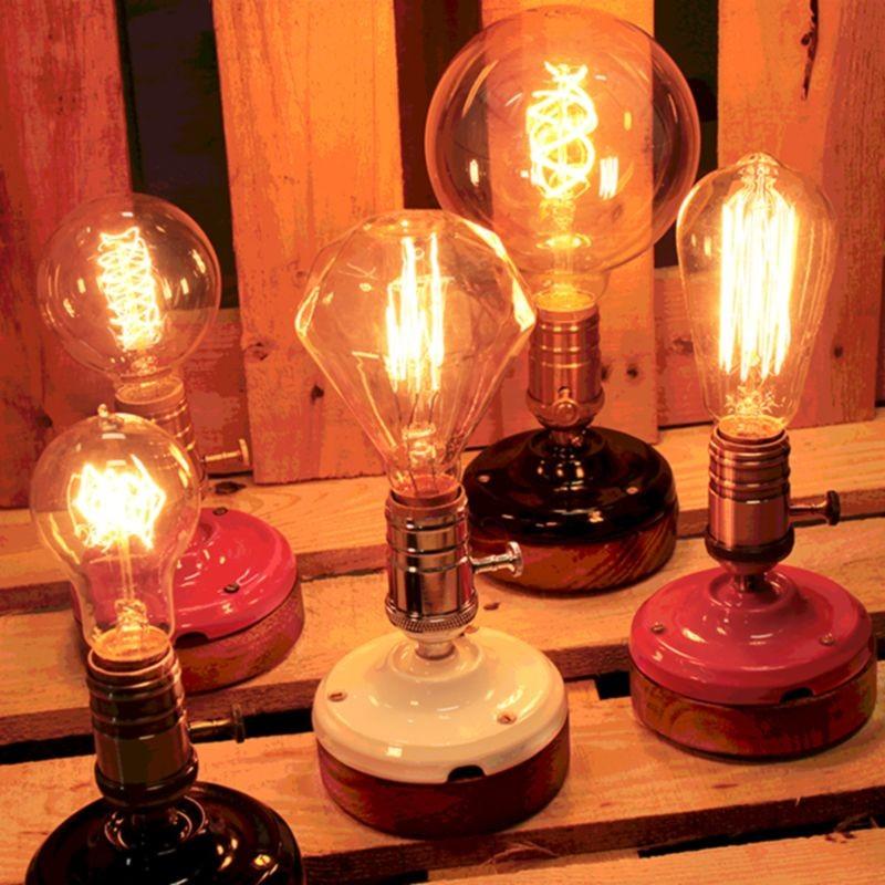 Lampada da Tavolo Artigianale E27 Rosso/Oro Ceramica e Legno - Diffusione Luce srl