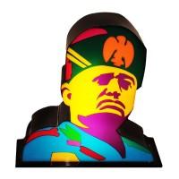 Marco Lodola ''BENNY'' Scatola Luminosa Benito Mussolini 2010 Lampada firmata