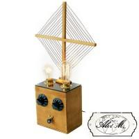 Lampada da Tavolo Artigianale Lorena 2 x E27 Edison Vintage