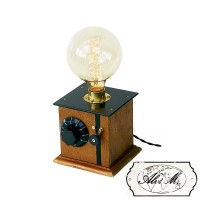 Lampada da Tavolo Artigianale Morena E27 Edison Vintage