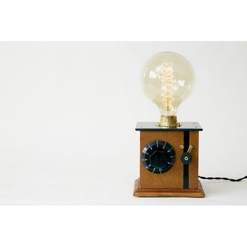 Lampada da tavolo artigianale morena e27 edison vintage - Lampada da tavolo artigianale ...