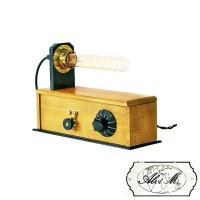 Lampada da Tavolo Artigianale Viola E27 Edison Vintage