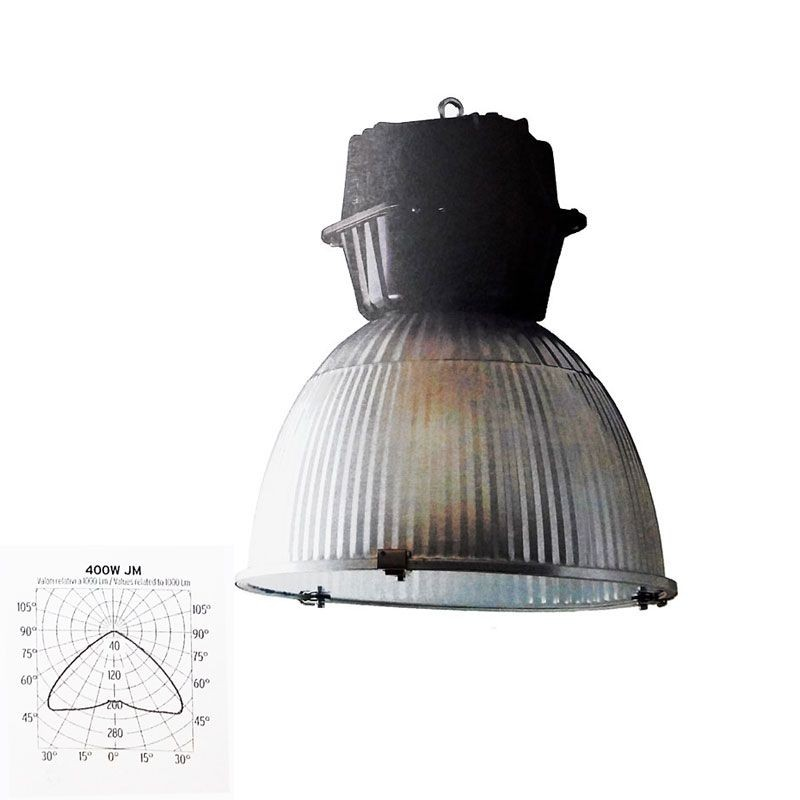 Lamp Bulb Bell Suspension Cupola 490 400W E40 Sodium Or Metal Halide Vapors