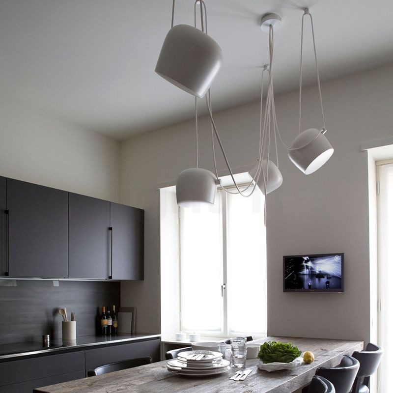 Flos aim x 4 punti luce led lampada sospensione soffitto for Flos lampade a sospensione
