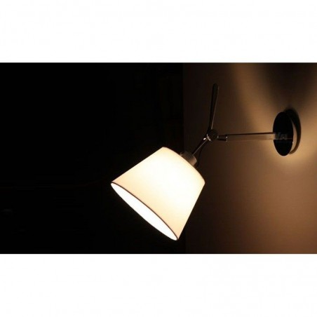 Artemide Tolomeo Parete Wall Adjustable Diffuser 18 in Silk Satin 1183010A+0781040A