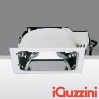 iGuzzini 3848 2x26W Sistema Easy Quadrato Incasso Bianco Alluminio