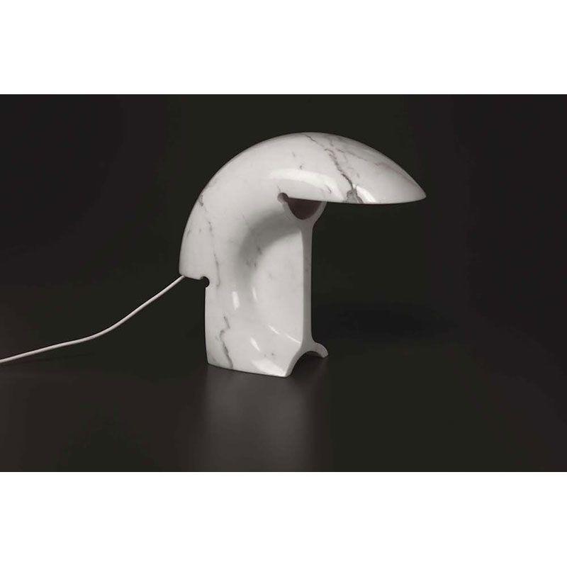 Flos Biagio Table Lamp E27 70w White Marble Design Tobia