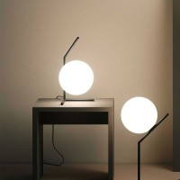 Flos IC T1 Low Table Lamp Glass and Chrome F3171057