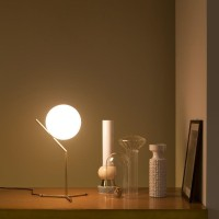 Flos IC T1 High Table Lamp Brushed Brass