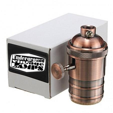 Portalampada e27 Vintage rame con interruttore switch