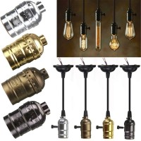 e27 lampholder Vintage burnished gold without switch