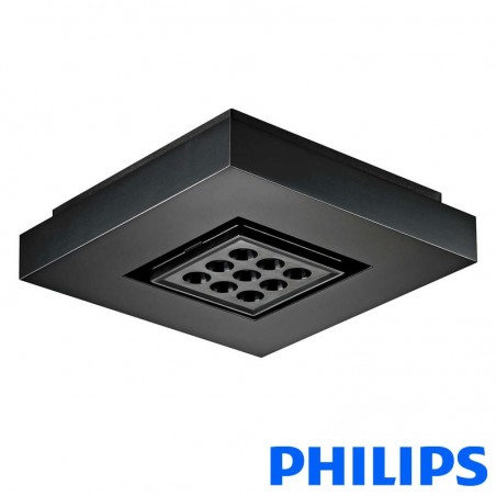 Philips EW Downlight Powercore 9 LED black 2700K lamp plafone