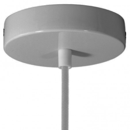 Rosetta wall ceiling with single output silver