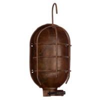 Single Suspension cage vintage oxidized copper steel E27