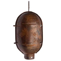Sospensione Singola gabbia vintage acciaio ossidato rame E27