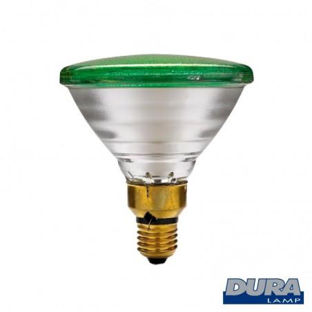 Duralamp PAR38 Lampadina 80W Verde E27 Per Esterno