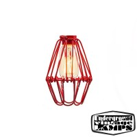 Cage Vintage stile Filament bulb for E27 red industrial