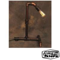 Lampada da Tavolo Vintage Tubo Anticato Colore Rame E27 H.50 cm