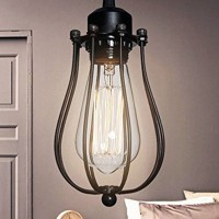 Ceiling lamp in the cage Vintage Filament bulb E27