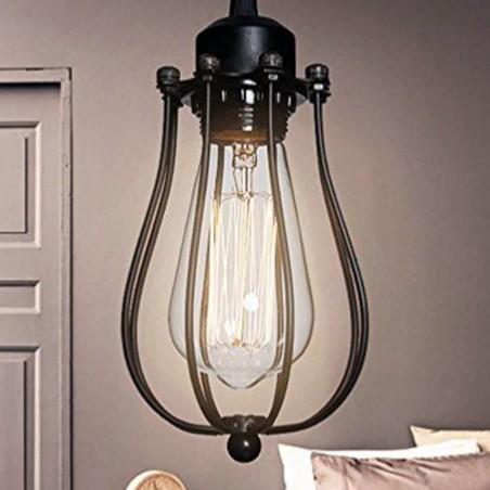 Lampada da soffitto Vintage a gabbietta portalampada Filamento E27