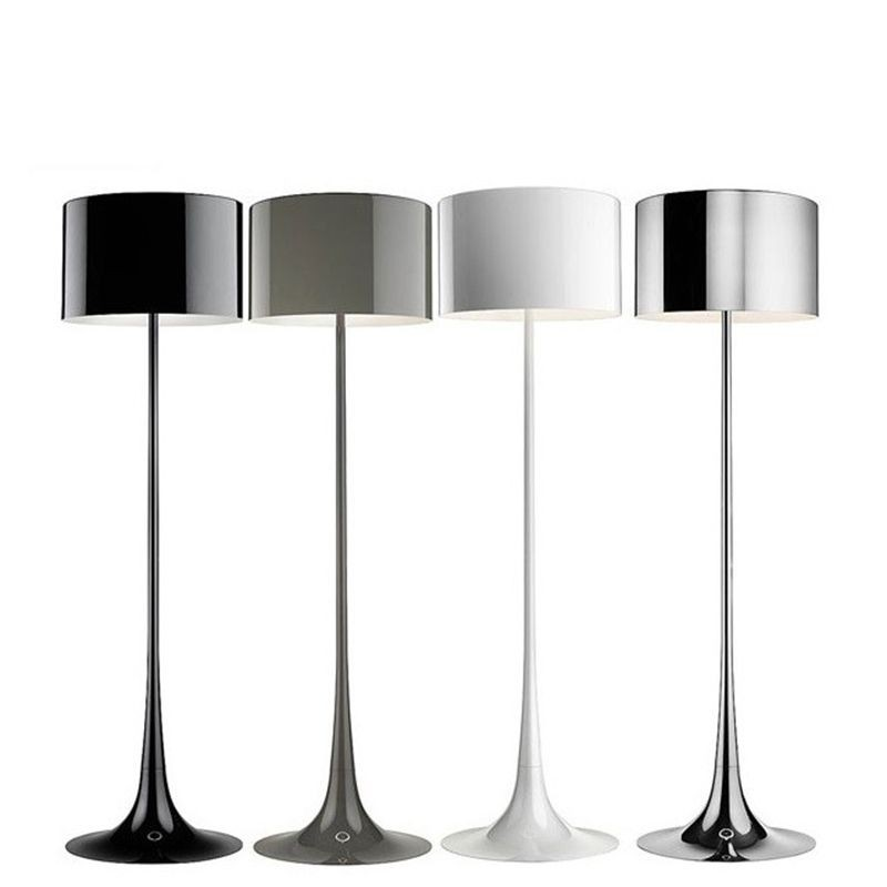 Flos Spun Light F Floor Lamp Shiny Chrome Aluminum Dimmer ...