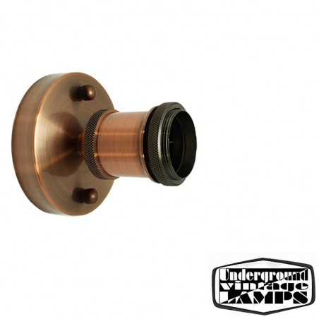 Ceiling or Wall Lamp with Copper Lampholder Vintage style with ring
