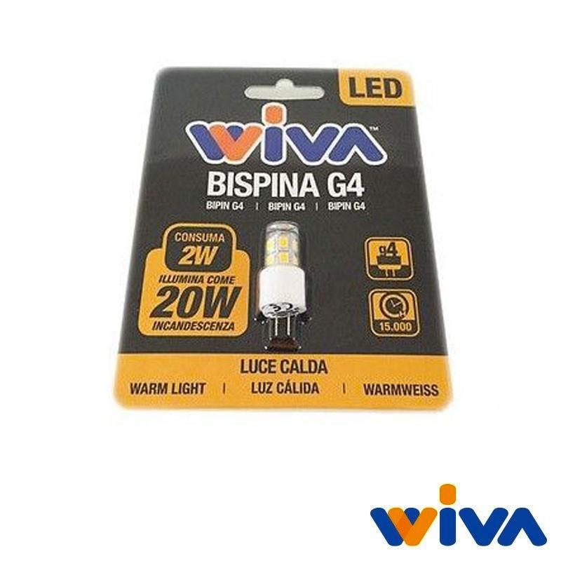 Wiva g4 led bispina basic 2w 20w 195lm 3000k lampadina for Acquisto lampadine led on line