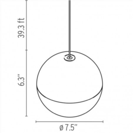 Flos String Light Sphere Head Suspension Pendant Lamp LED with Floor Switch