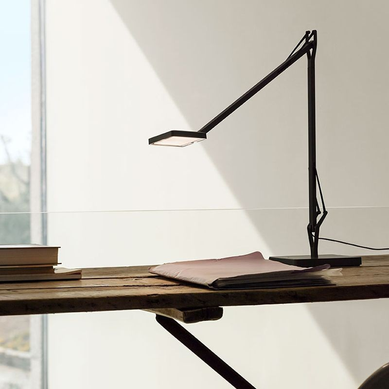 Flos Kelvin LED Base Table Lamp Anthracite F3311033 Dimmable - Diffusione Luce srl