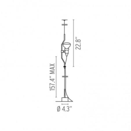 Flos Parentesi Pendant Suspension Black F5400030 Design by Achille Castiglioni