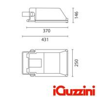 iGuzzini 7395 Proiettore Esterno 250W 3200K IP66 Platea Alogenuri Metallici