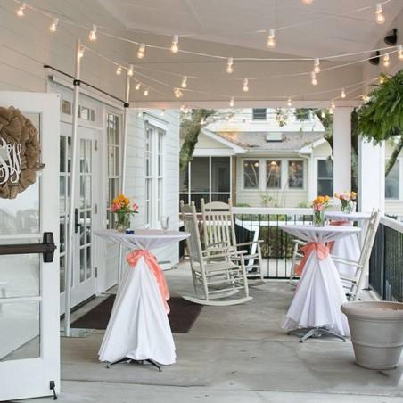 Light Chain 10 Lampholder E27 10 mt Outdoor Extendable White