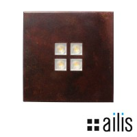 Ailis ZEN 1 LED 13W 2700K applique incasso o esterno ruggine