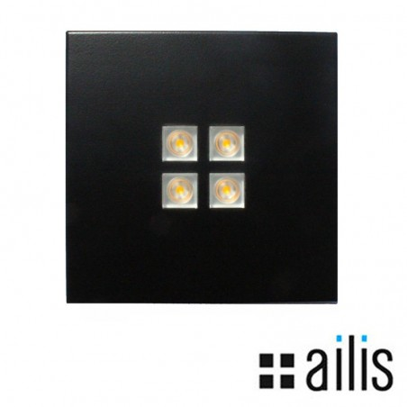 Ailis ZEN 1 LED 13W 2700K applique flush or surface black