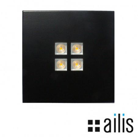 Ailis ZEN 1 LED 13W 2700K Faretto Plafone Incasso Soffitto Nero