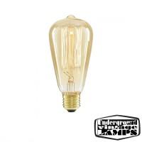 Lampadina vintage cono ST64 60W 230 V filamento incandescenza
