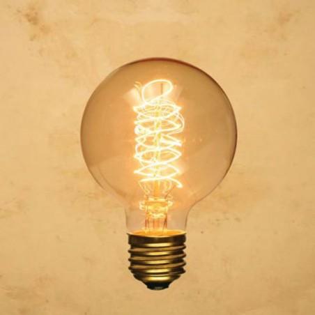 Lampadina Vintage G80 40W globo E27 filamento carbonio