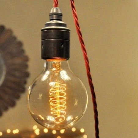 Vintage 40W globe bulb G80 E27 carbon filament