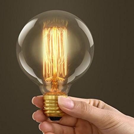Vintage globe bulb g95 60w e27 carbon filament