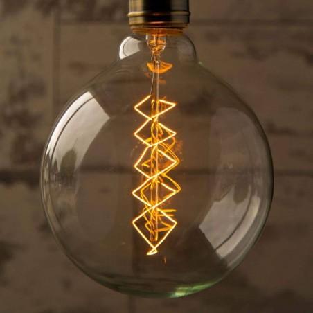 lampadina epoca G125 60w Globo spirale e27 filamento carbonio